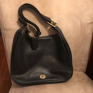 Vintage Coach Stewardess Bag, BLACK LARGE 9x12